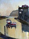 A Still Evening, Staithes, Yorkshire by Sue Nichol