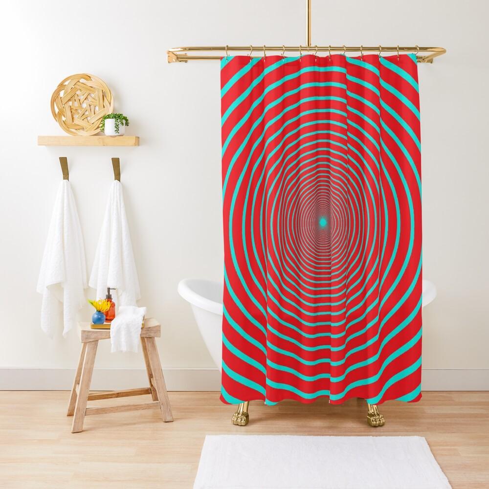 Visual Illusion #VisualIllusion Optical #OpticalIllusion #percept #reality Shower Curtain