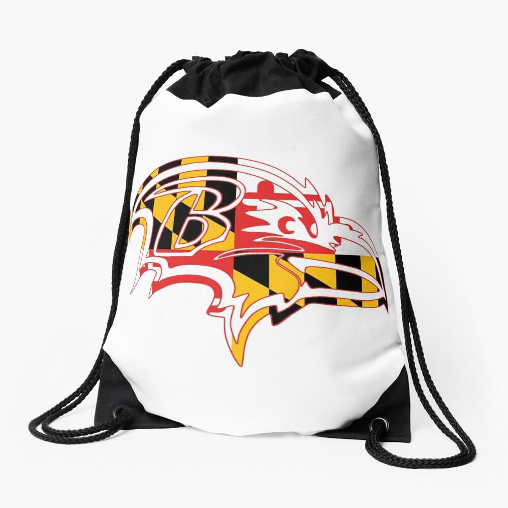 Maryland Flag - Raven Drawstring Bag