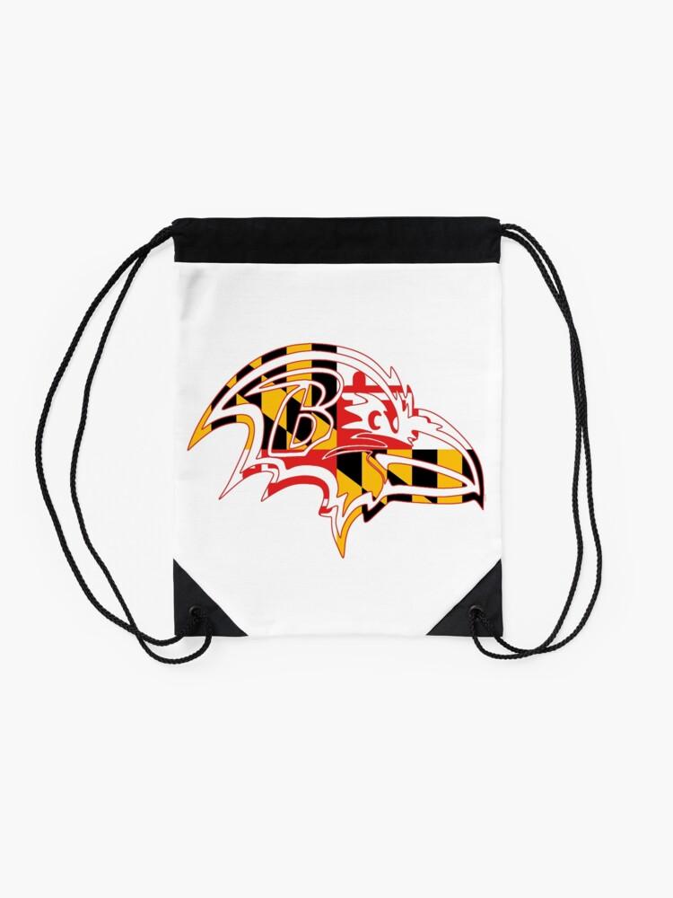Alternate view of Maryland Flag - Raven Drawstring Bag