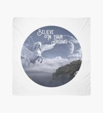Winged Unicorn Shirt, Believe In Your Dreams  Scarf