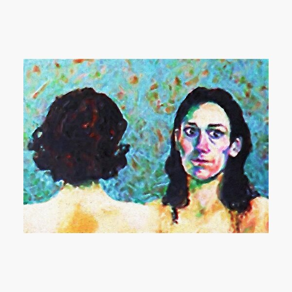 Fleabag and Claire Painting  Photographic Print