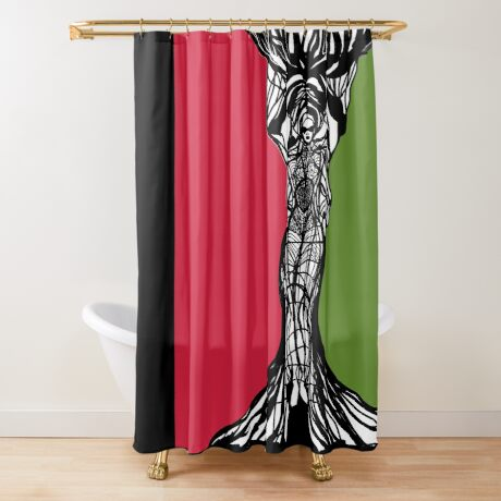 PanAfrican Woman With  Shower Curtain