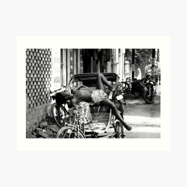 Rickshaw Break Art Print