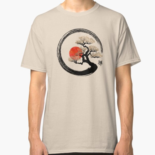 Enso Circle and Bonsai Tree on Canvas Classic T-Shirt