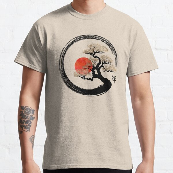 Enso Circle and Bonsai Tree on Canvas Classic T-Shirt