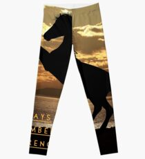 """Horse Shirt, Neighs in the Sunset, """"Always remember your strengths"""" Leggings"""