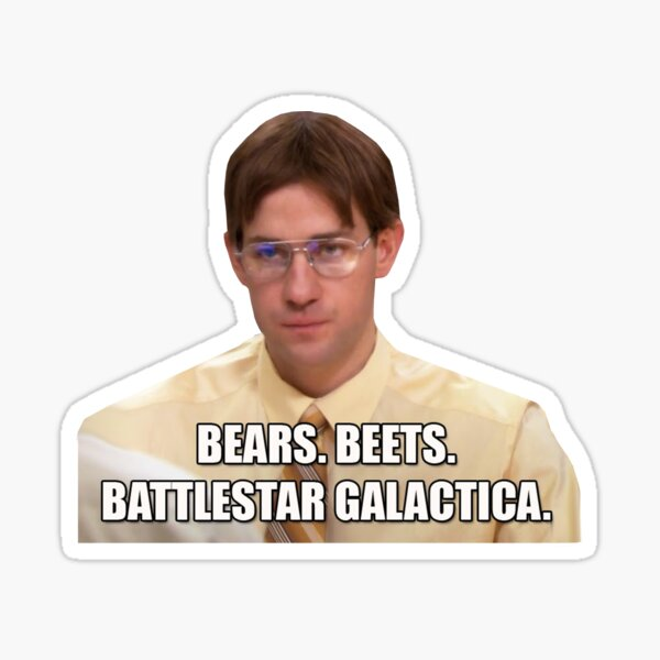 Bears Beets Battlestar Galactica Sticker