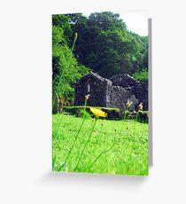 Glendalough old church Greeting Card