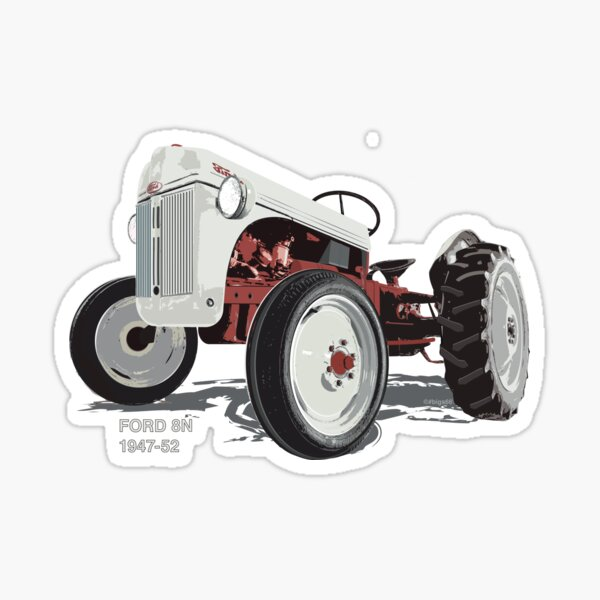 Old Redbelly, Ford8N – north America's best selling tractor Sticker