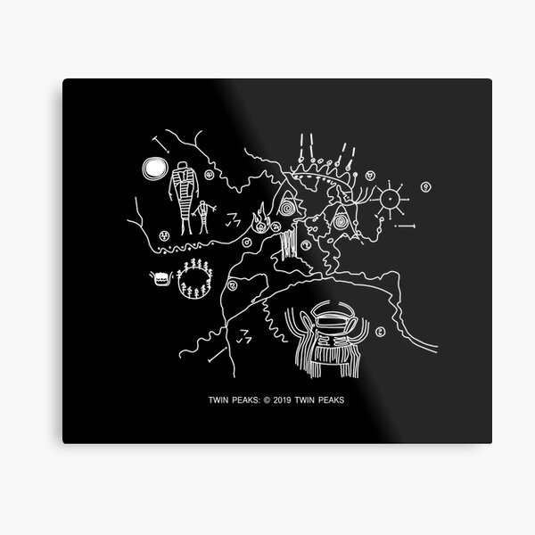 Twin Peaks -  Cave Map  Metal Print