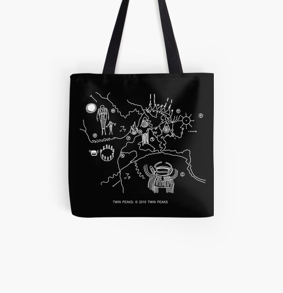 Twin Peaks -  Cave Map  All Over Print Tote Bag