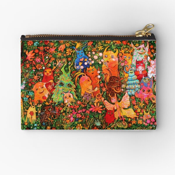 """Happy Meadow"" Zipper Pouch"