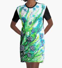 Flower Fields Graphic T-Shirt Dress