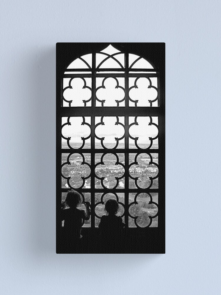 Alternate view of Looking through the window Canvas Print