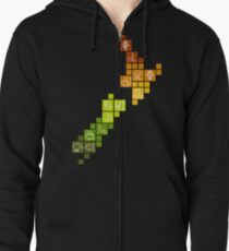 New Zealand Fun Map Zipped Hoodie