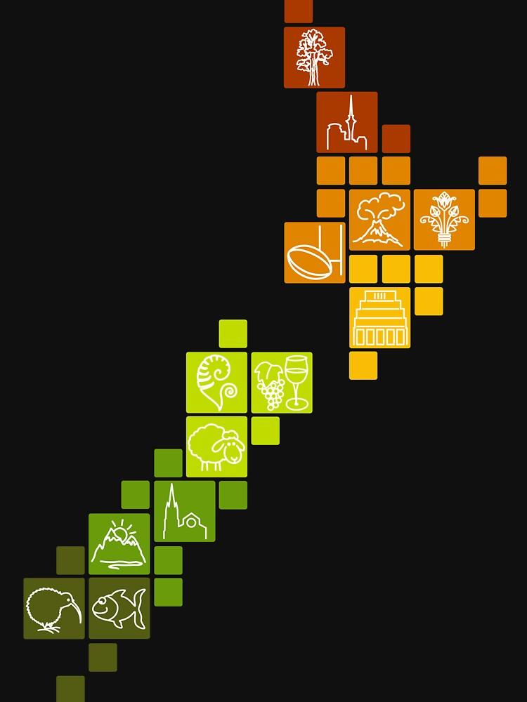 New Zealand Fun Map | Unisex T-Shirt