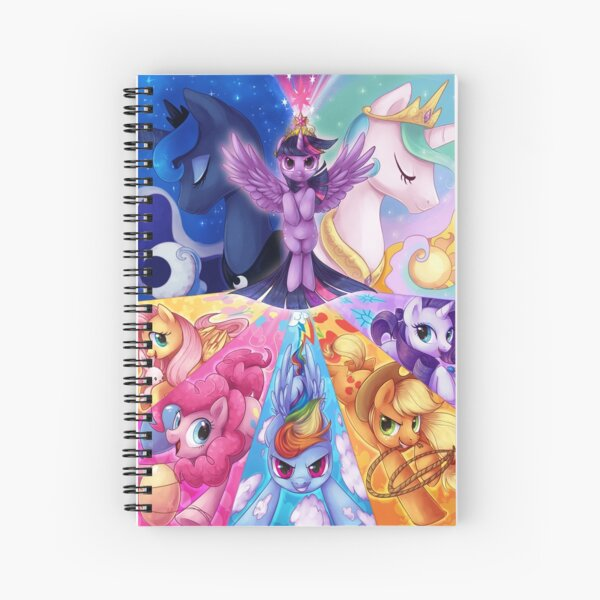 This is PONIES Spiral Notebook