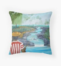 What a Wonderful day for Fishing Throw Pillow