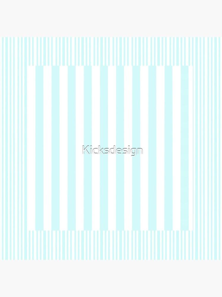 Modern abstract geometric teal white stripes pattern by Kicksdesign
