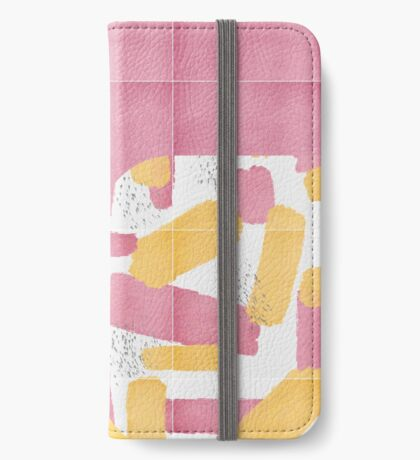 Bold Painted Tiles 01 #redbubble #midmod iPhone Wallet