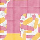 Bold Painted Tiles 01 #redbubble #midmod by designdn