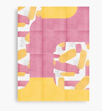 Bold Painted Tiles 01 #redbubble #midmod Canvas Print