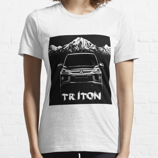 Mens Mitsubishi l200 Pick Up Organic Cotton T-Shirt Retro Style Car Eco Gift