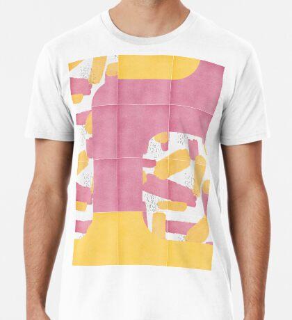 Bold Painted Tiles 01 #redbubble #midmod Premium T-Shirt
