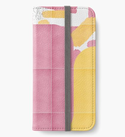 Bold Painted Tiles 02 #redbubble #midmod iPhone Wallet