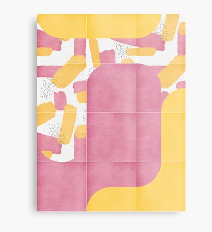 Bold Painted Tiles 02 #redbubble #midmod Metal Print