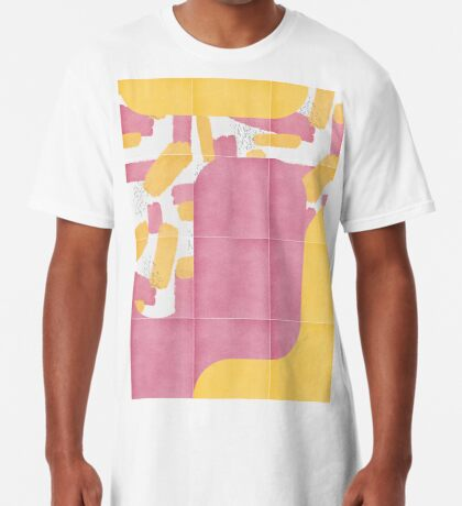 Bold Painted Tiles 02 #redbubble #midmod Long T-Shirt