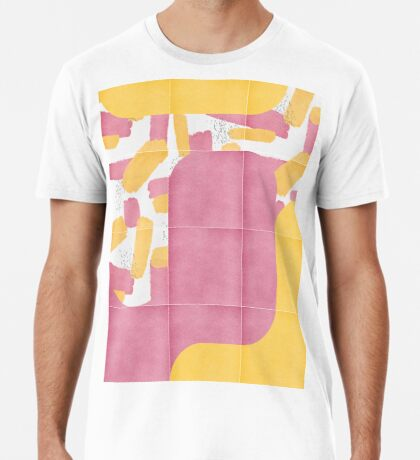 Bold Painted Tiles 02 #redbubble #midmod Premium T-Shirt