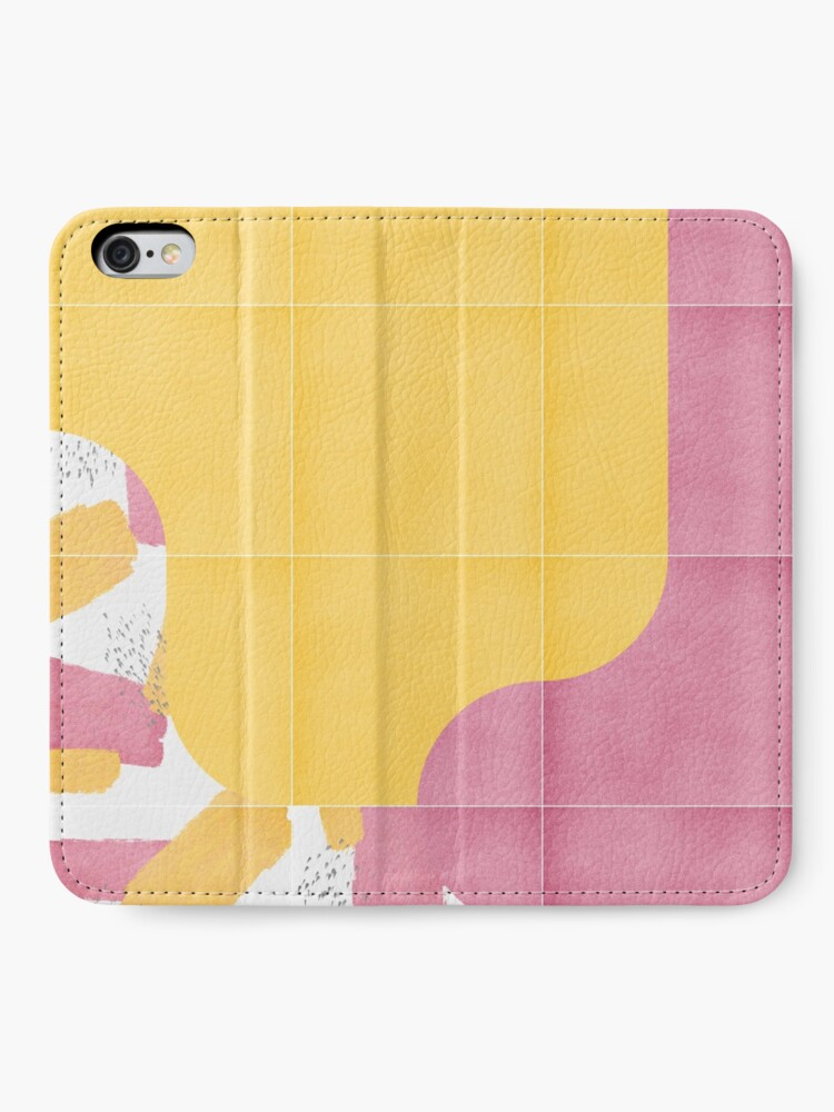 Alternate view of Bold Painted Tiles 03 #redbubble #midmod iPhone Wallet