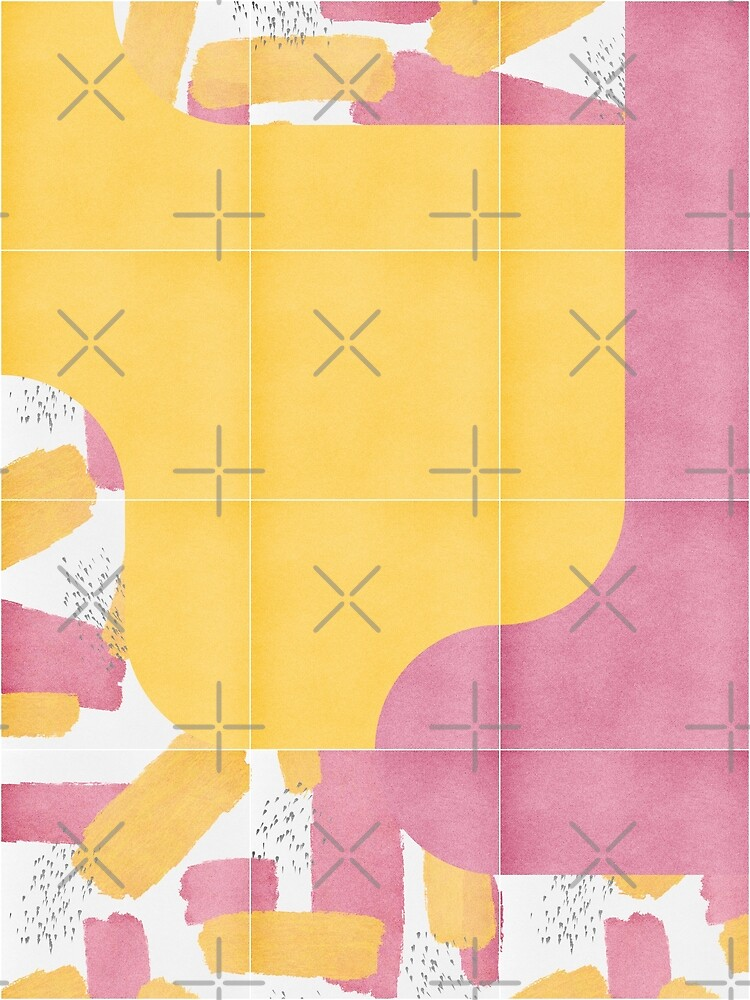 Bold Painted Tiles 03 #redbubble #midmod by designdn