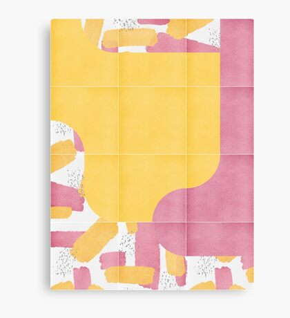 Bold Painted Tiles 03 #redbubble #midmod Canvas Print
