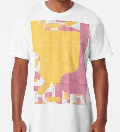 Bold Painted Tiles 03 #redbubble #midmod Long T-Shirt