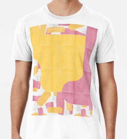 Bold Painted Tiles 03 #redbubble #midmod Premium T-Shirt