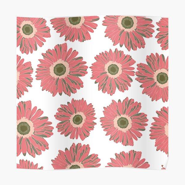 Gerbera Daisy Flowers  Poster