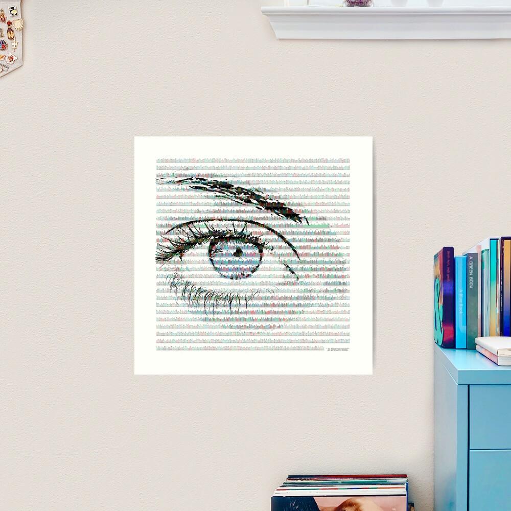 Blue eye colour variant Art Print