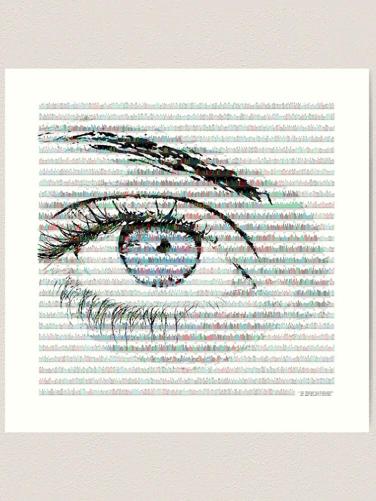 Alternate view of Blue eye colour variant Art Print