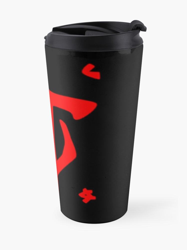 Alternate view of Mark of the Doom Slayer - Red Travel Mug