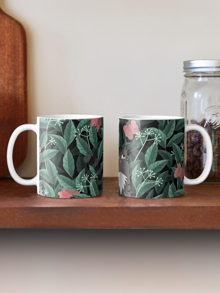 Alternate view of Butterfly Garden (Tabby Cat Version) Mug