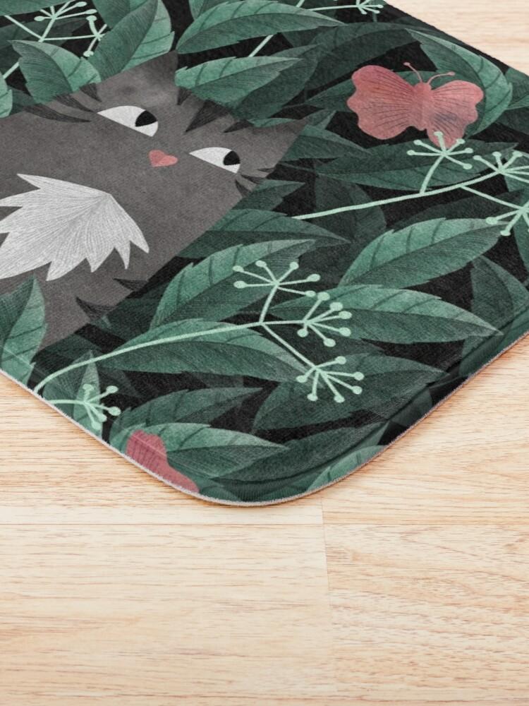 Alternate view of Butterfly Garden (Tabby Cat Version) Bath Mat