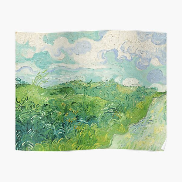 VAN GOGH - Wheat Fields in Auvers, 1890 Poster