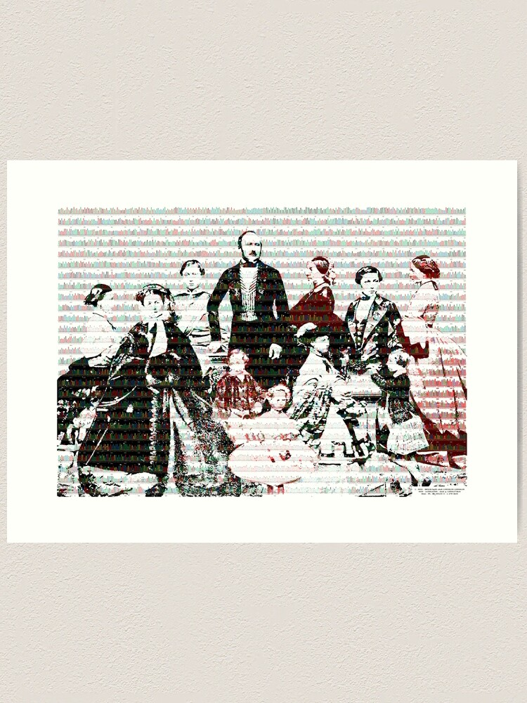 Alternate view of Royal Blood and DNA Art Print