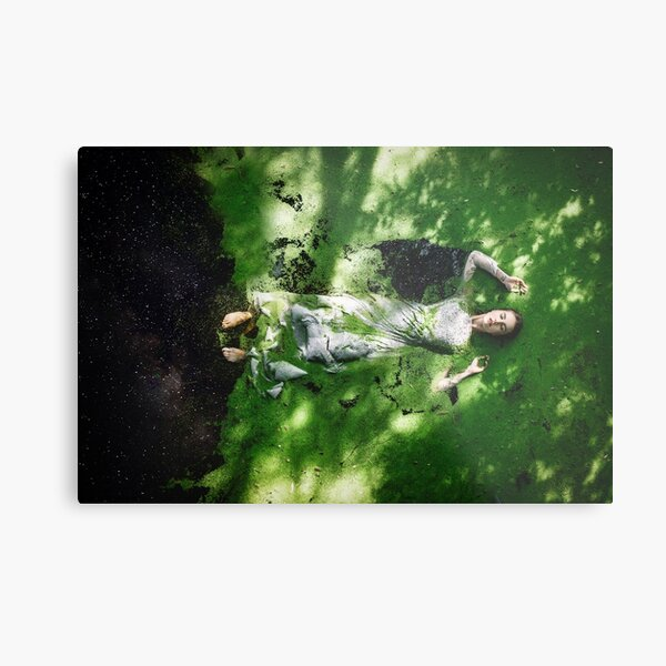 Floating through the universe Metal Print