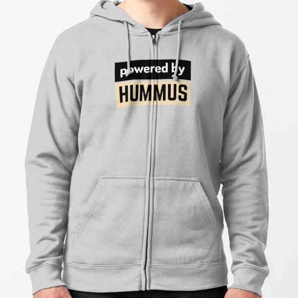 powered by hummus Zipped Hoodie