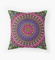 Delicious Singing Petals Mandala Throw Pillow