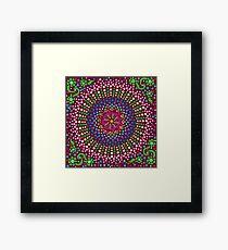 Delicious Singing Petals Mandala Framed Print